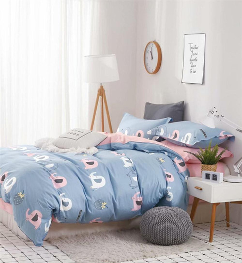 [New Arrival!]100% Cotton Printed Kids Quilt Cover Set-NL1939
