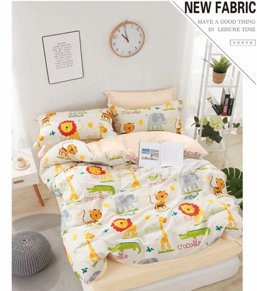 [New Arrival!]100% Cotton Printed Kids Quilt Cover Set-NL1996