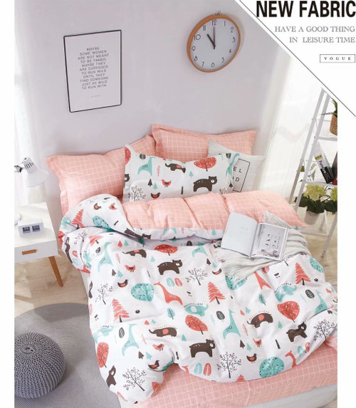 [New Arrival!]100% Cotton Printed Kids Quilt Cover Set-NL19100