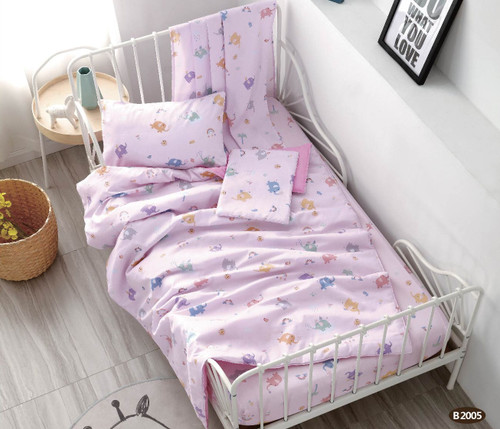 [40%OFF!!!] 100% Cotton Printed  Baby Cot Sheet Set B2005