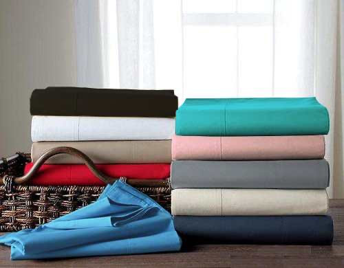[New Arrival!! 30% Off!!] 280 Thread Count Percale  Plain Dyed Sheet Set 40 cm Wall