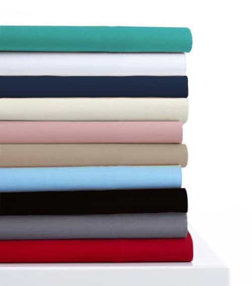 [New Arrival!! 30% Off!!]280 Thread Count Percale  Plain Dyed Fitted Sheet 40 cm Wall