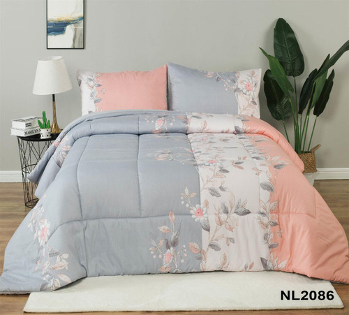 [40% OFF!] Cotton Printed  3 Piece Comforter Set-NL2086