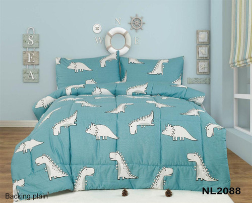 [New Arrival!! 30% OFF!] Kids Cotton Print Comforter Set - NL2088