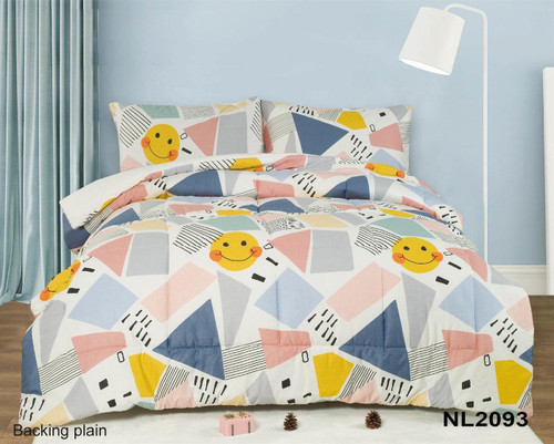 [New Arrival!! 30% OFF!] Kids Cotton Print Comforter Set - NL2093