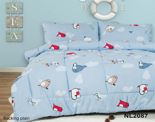 [New Arrival!! 30% OFF!] Kids Cotton Print Comforter Set - NL2087