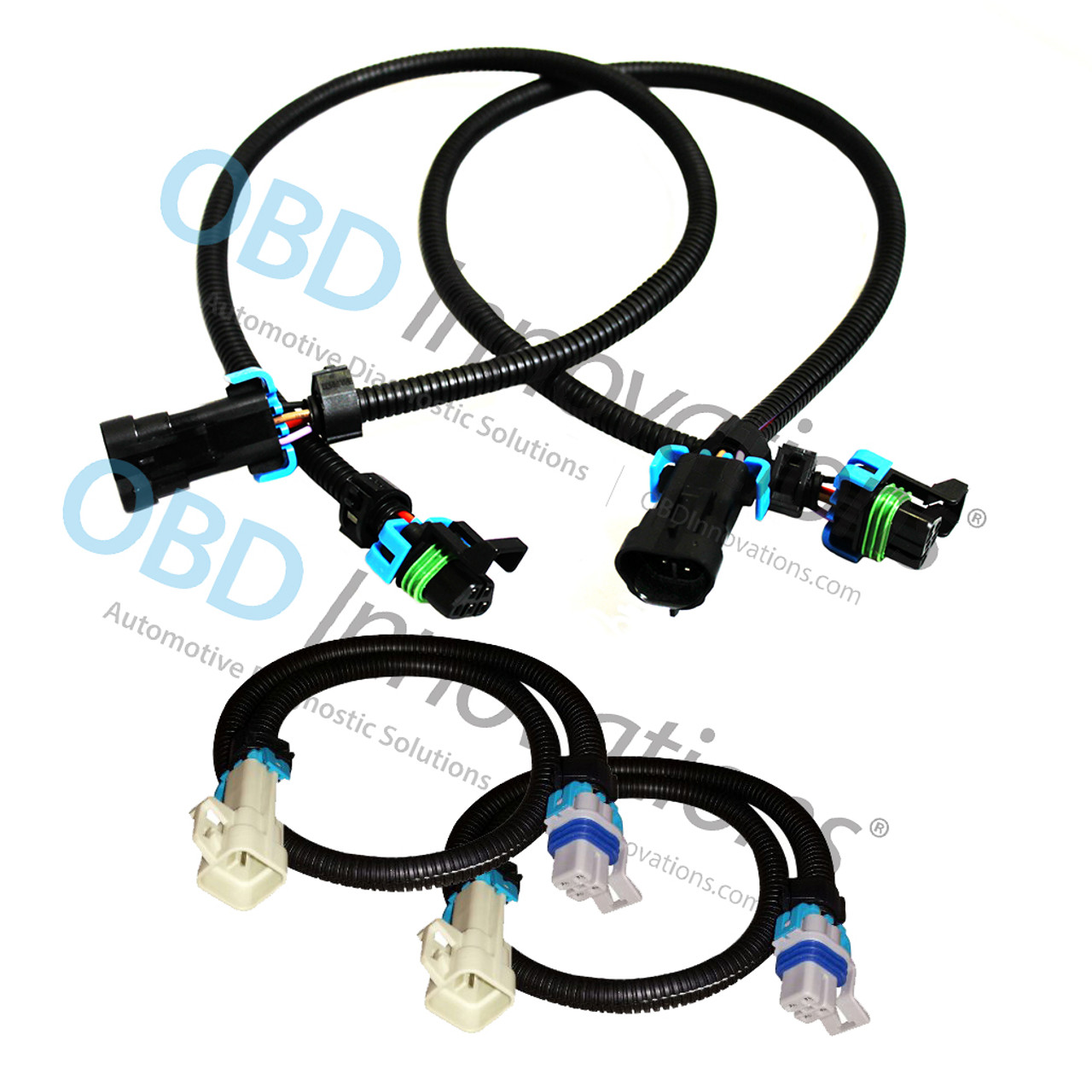 Oxygen O2 Sensor Extension Cables Corvette C6 LS2 LS3 LS7 Z06 Front Rear Set 24/""