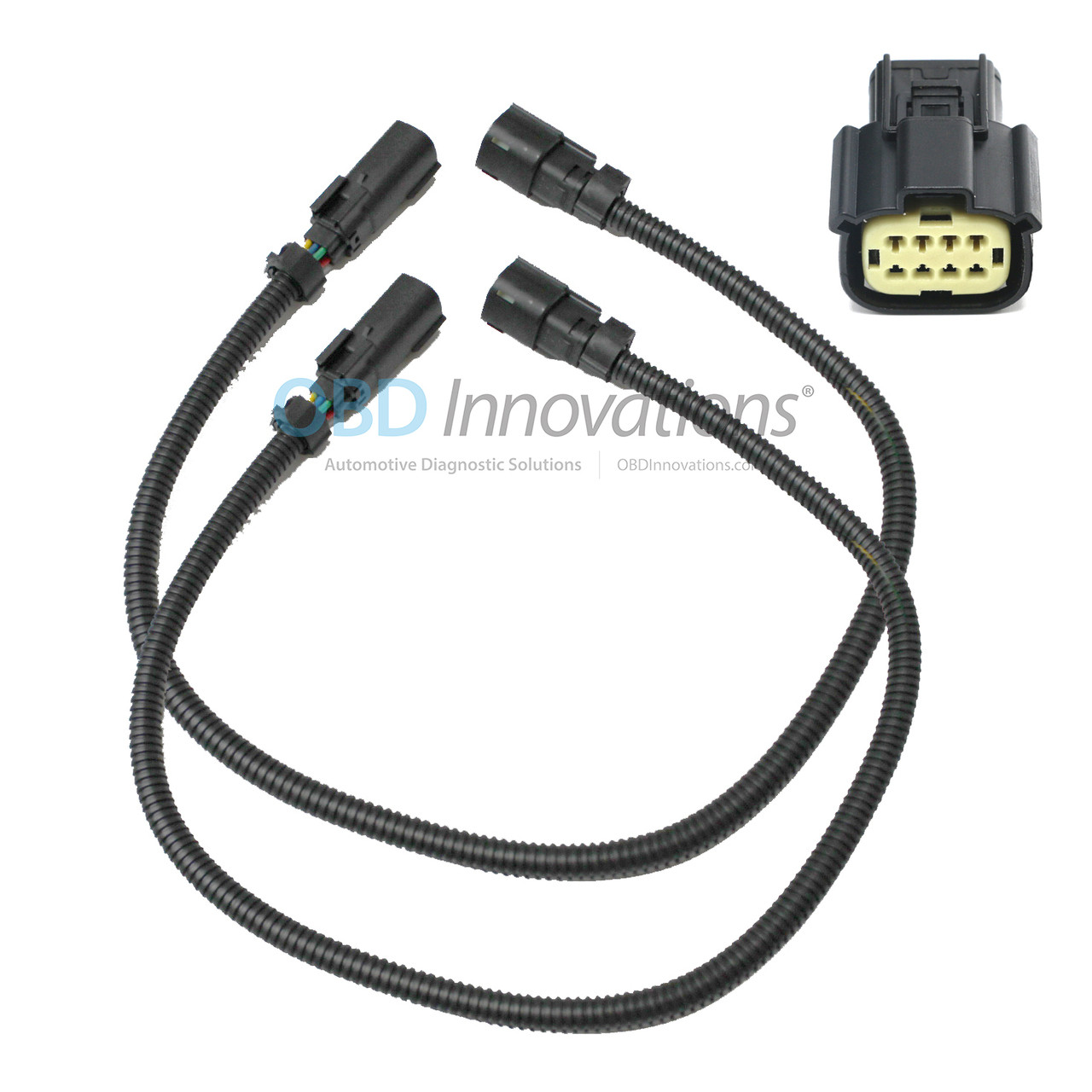 """8 pin 24/"""" Front O2 Sensor Extension for 11-14 Ford Mustang V6 3.7L"""
