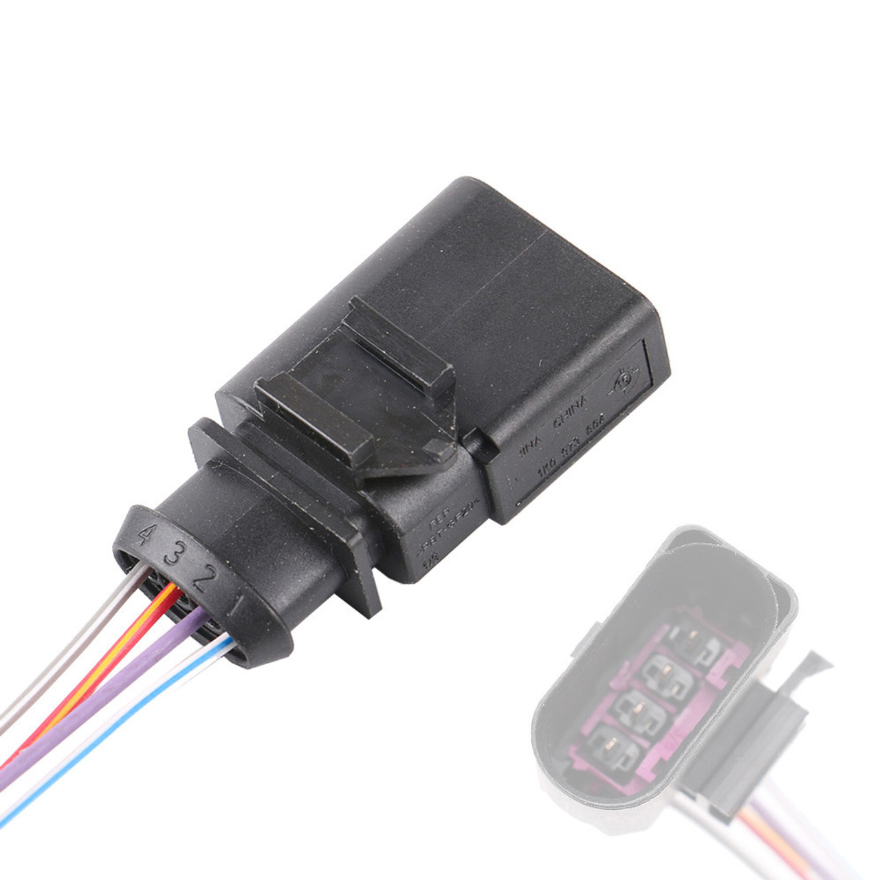 4 Pin Pressure Sensor Male Connector Pigtail for VW Audi 1K0973804  Pin Wire Harness Pigtail on