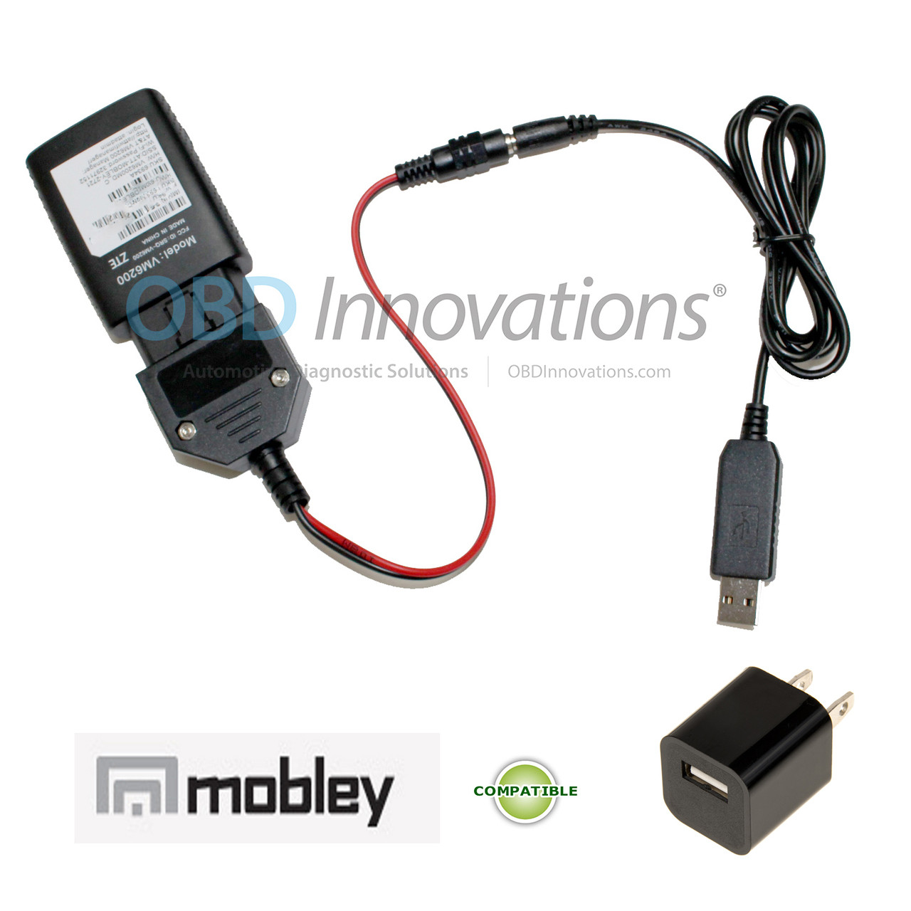 AC USB OBD2 Power Adapter for AT&T ZTE Mobley 4G LTE WiFi Hotspot
