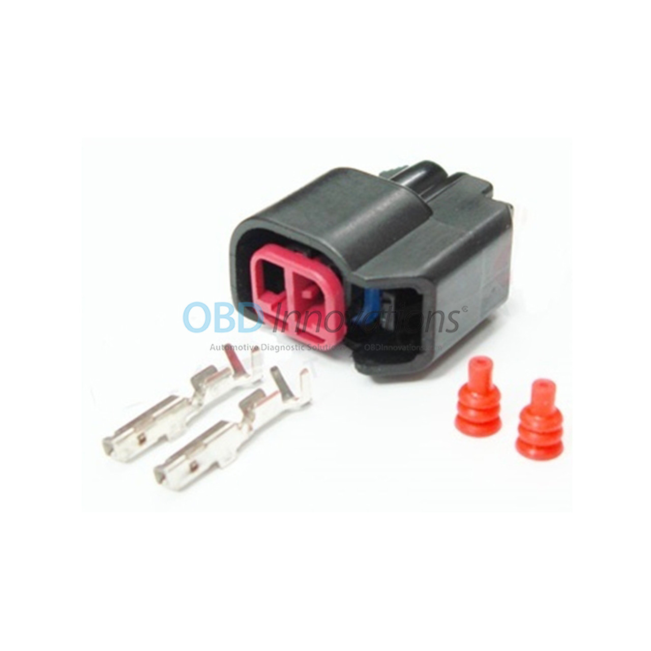 EV6 Female Fuel Injector Connector With Crimp-on Pins
