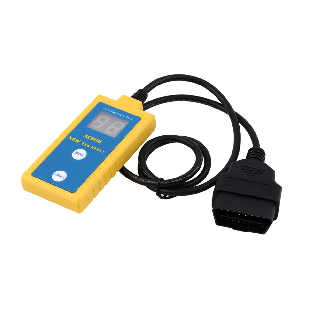 AC808 Airbag SRS Reset Tool Diagnostic Scanner for 94-03 BMW + 20 Pin Cable