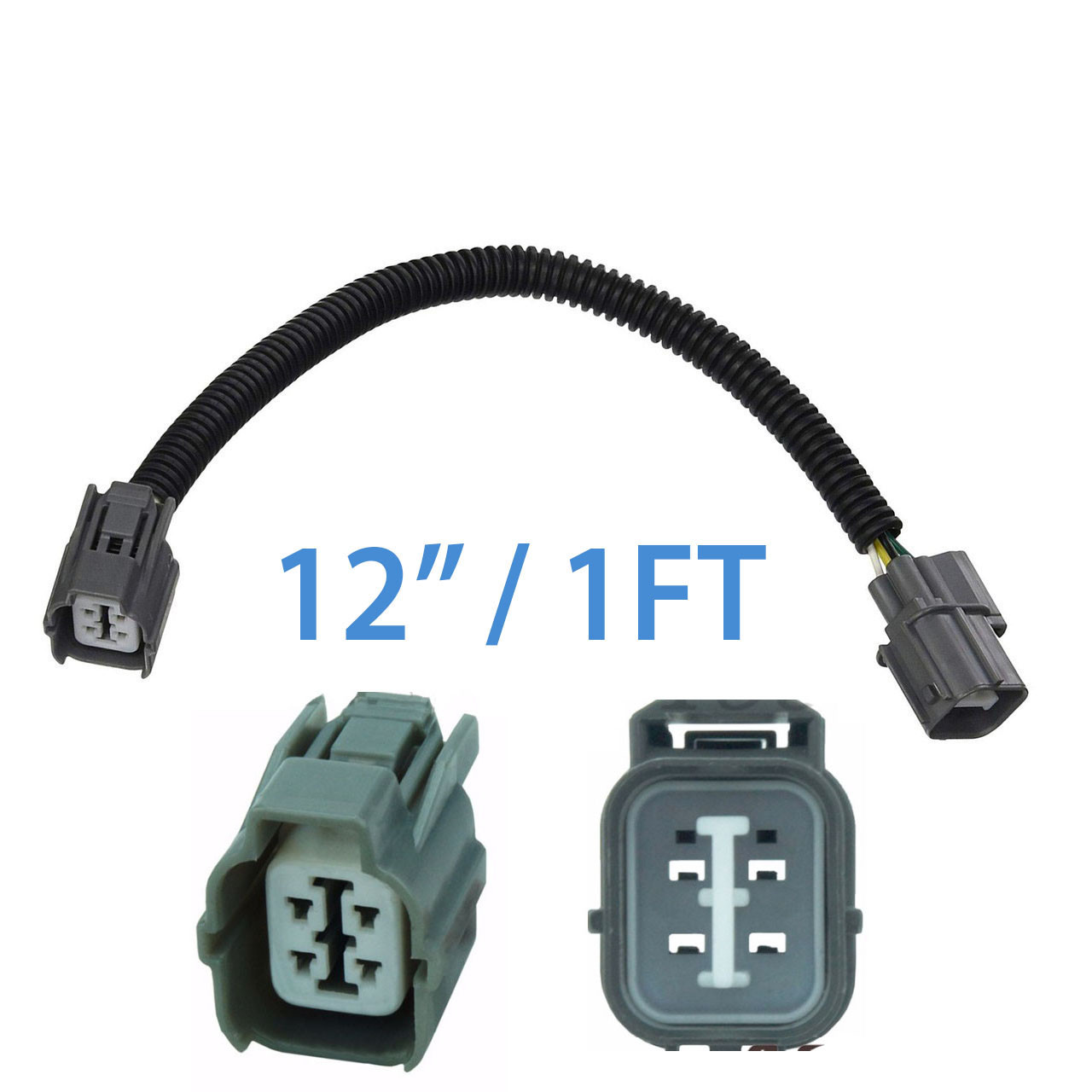 4 Wire O2 Oxygen Sensor Extension Cable Harness for Honda Civic Integra  Wire O Sensor Diagram Crx on