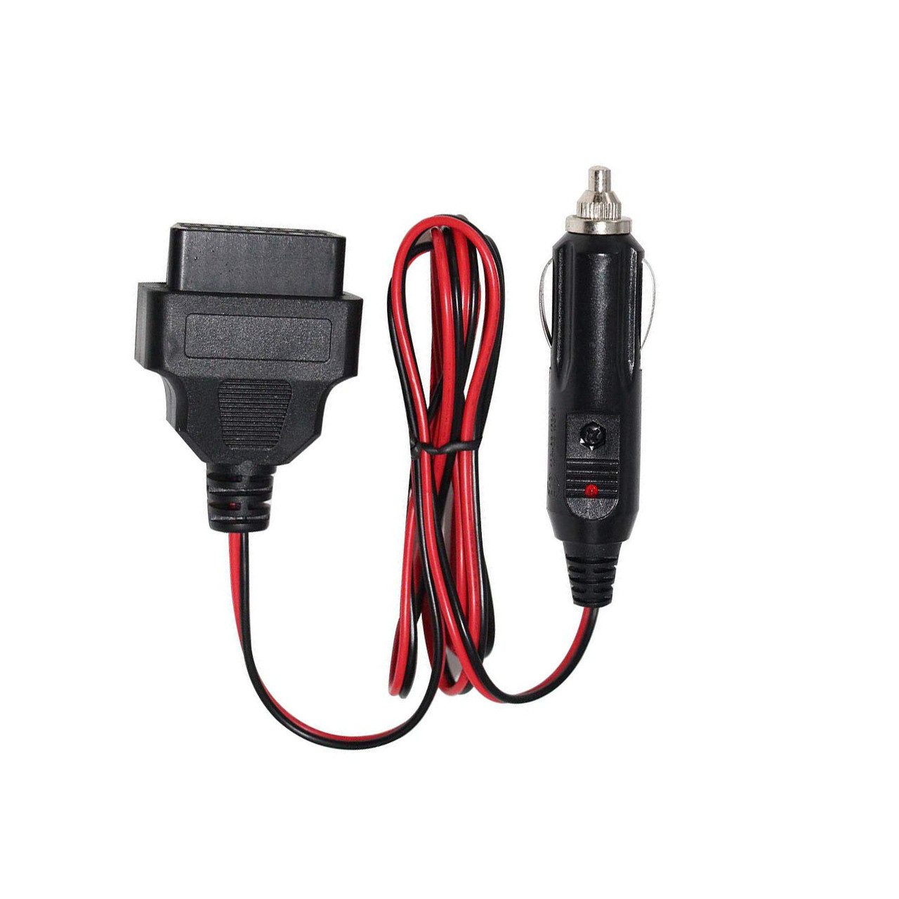 uxcell Universal OBD2 16 Pin Car GPS Diagnostic Connector Male Adapter Socket DC 12V