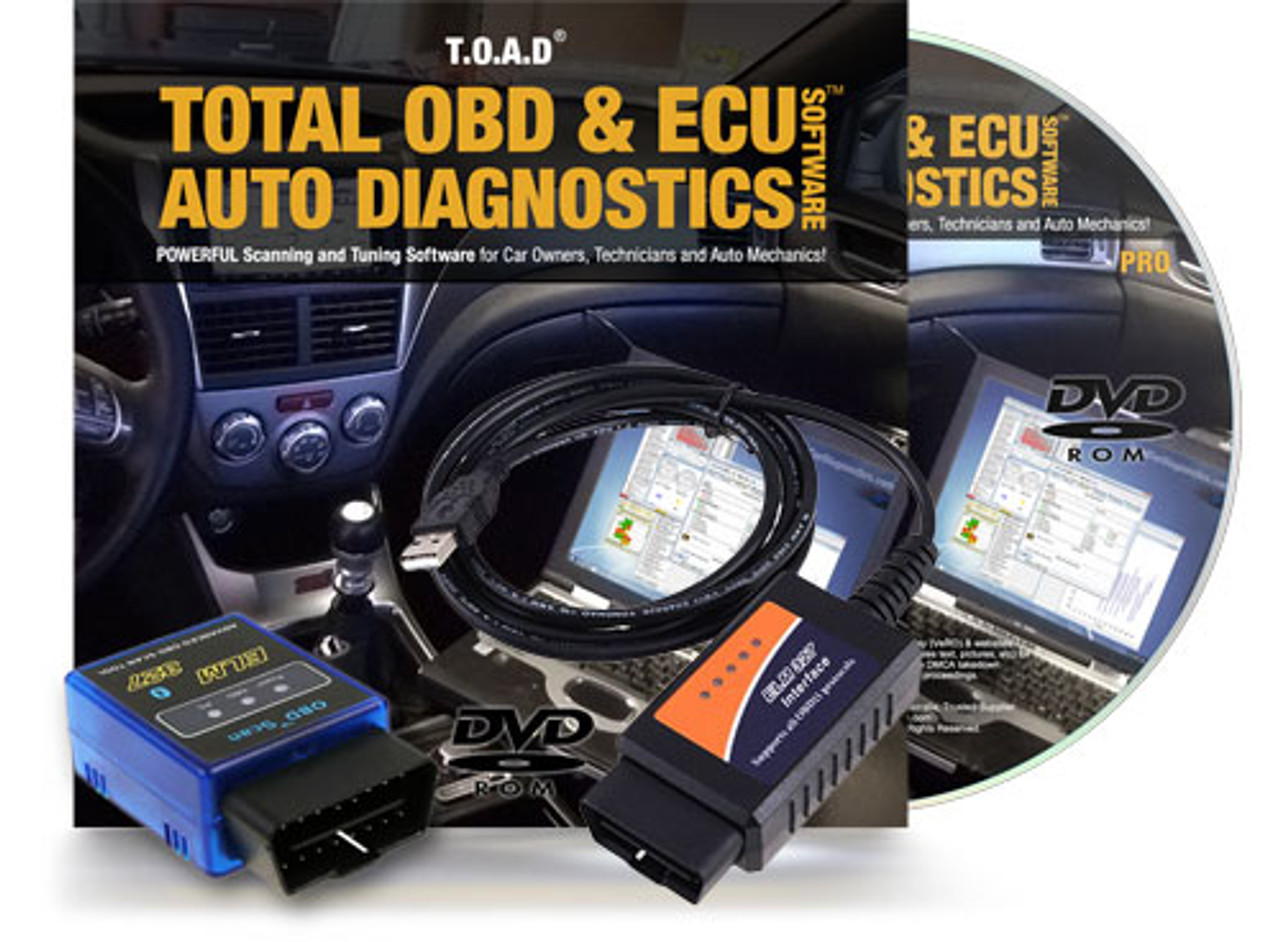 TOAD® (Total OBD & ECU Auto Diagnostics) Software Package