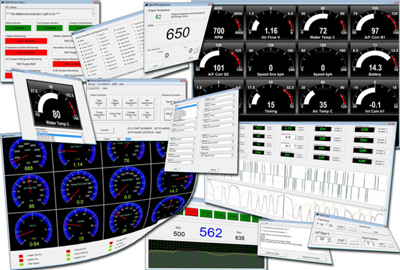 Nissan DataScan II Software for OBDII K-Line Cars up to 2007