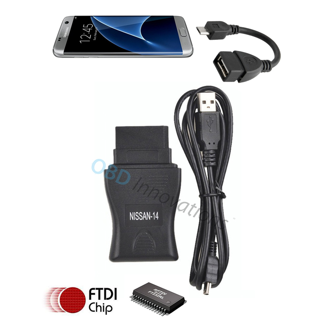Consult 14 Pin DDL Interface + OTG Micro USB Adapter for Nissan DataScan I  Android