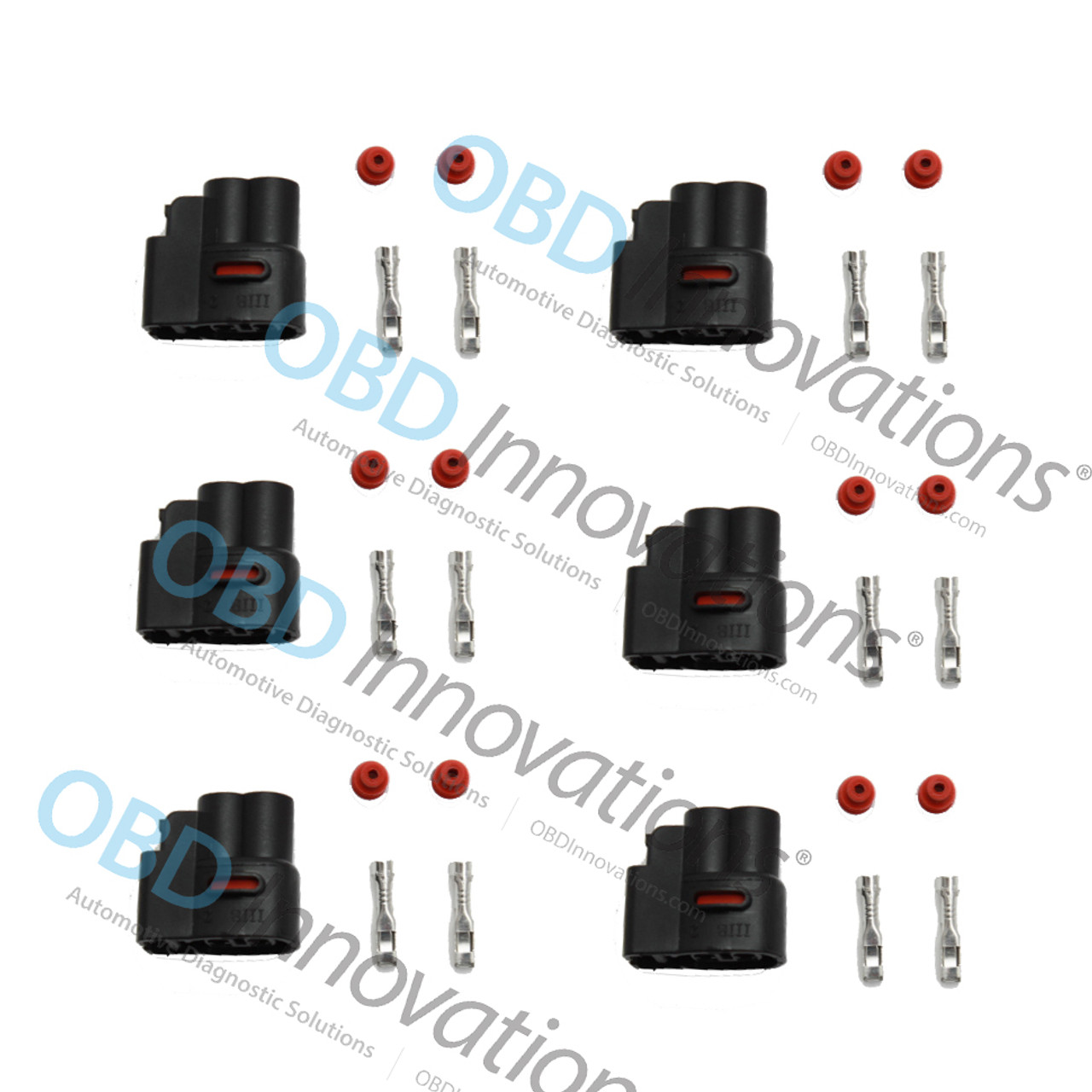 6x Pack Ignition Coil Pack Connector Kit For Toyota Supra