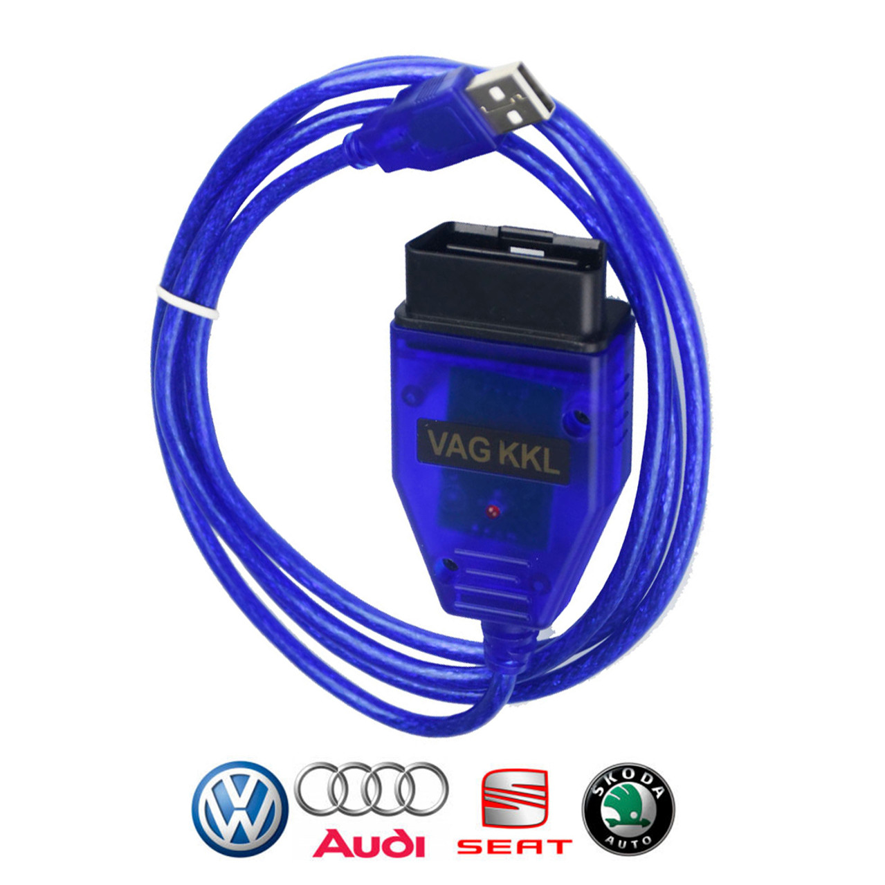 VAG 409 1 KKL OBD2 USB Cable with FTDI FT232RL Chip for VW Audi VCDS Lite