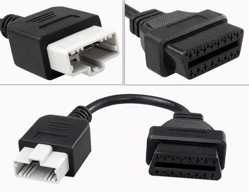 5 Pin to 16 Pin OBD2 Connector Adapter Cable for Honda