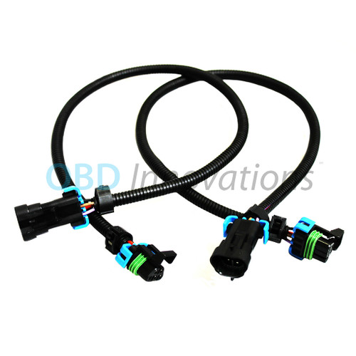 2X Front Oxygen O2 Sensor Extension Cables for 2005-2013 GM Corvette C6 LS2 LS3 LS7 Z06 12""
