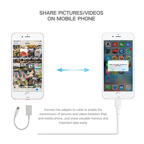 8 Pin to USB OTG Camera Adapter for iPhone iPad