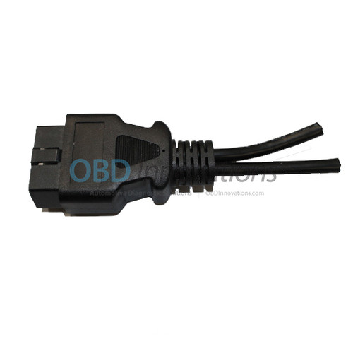16 Pin OBD2 J1962 Male Y Splitter Open End Cable