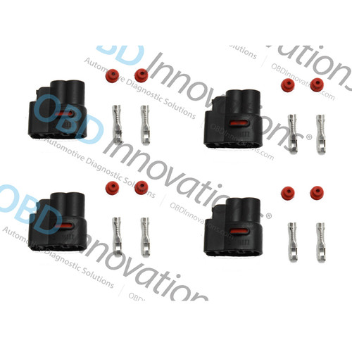 2 Pin Ignition Coil Pack Connector Kit for Various 1986-2015 Cars [4 Pack]