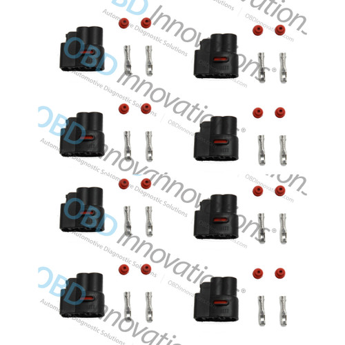 2 Pin Ignition Coil Pack Connector Kit for Various 1986-2015 Cars [8 Pack]