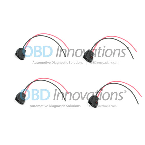 2 Pin Ignition Coil Pack Connector Pigtail for Various 1986-2015 Cars [4 Pack]