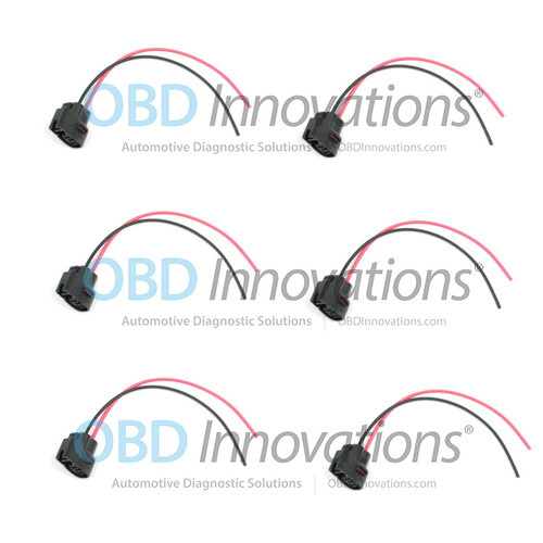 2 Pin Ignition Coil Pack Connector Pigtail for Various 1986-2015 Cars [6 Pack]