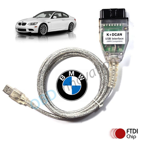 BMW D-CAN OBD2 USB INPA Cable (FTDI FT232RL Chipset) + BMW Tools Software for 2008-2016 E-Series