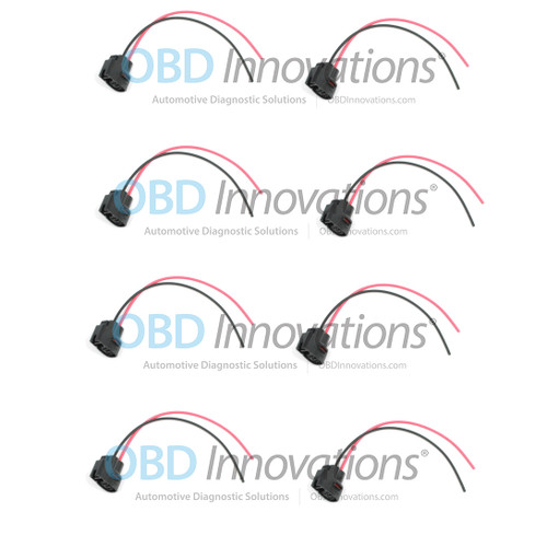 2 Pin Ignition Coil Pack Connector Pigtail for Various 1986-2015 Cars [8 Pack]
