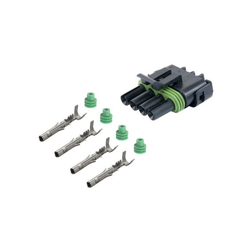 4 Way Weather Pack Sealed Male Connector Kit 12015797