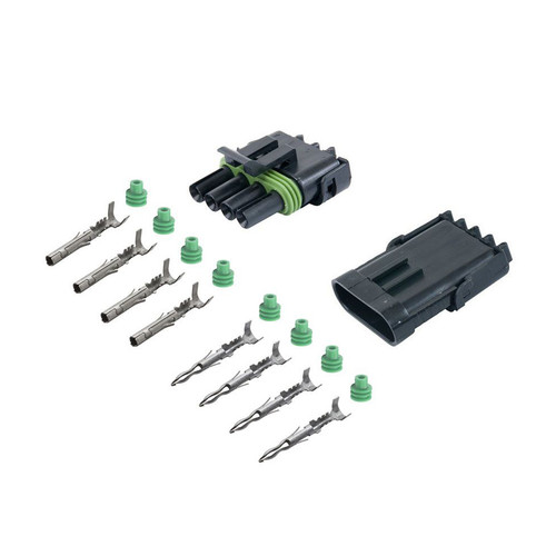 4 Way Weather Pack Sealed Male + Female Connector Kit 12010974 12015797