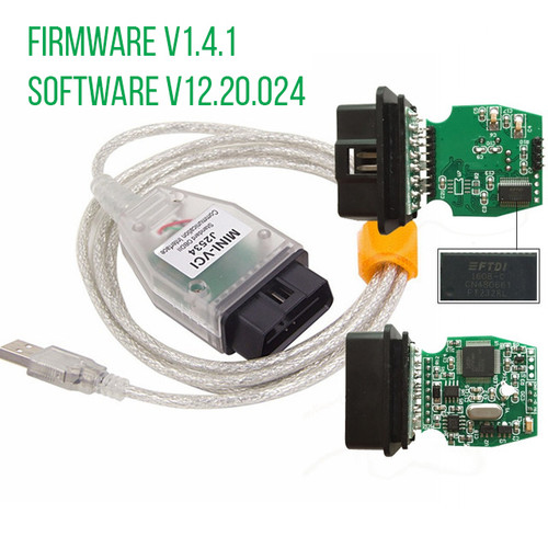 MINI-VCI J2534 OBD2 USB Interface for Toyota Firmware V1.4.1 Software V12.20.024