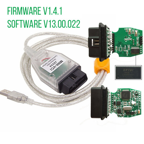 MINI-VCI J2534 OBD2 USB Interface for Toyota Firmware V1.4.1 Software V13.00.022