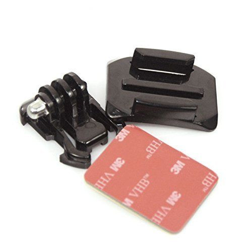 Buckle + CURVED Base Mount + 3M VHB Adhesive Pad for GoPro Hero 1 2 3 3+ 4 5