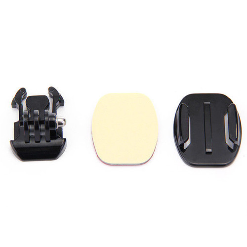 Buckle + FLAT Base Mount + 3M VHB Adhesive Pad for GoPro Hero 1 2 3 3+ 4 5