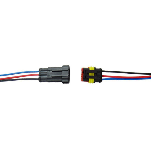3 Way AMP SUPERSEAL 1.5 Series Male + Female Connector Pigtail Set