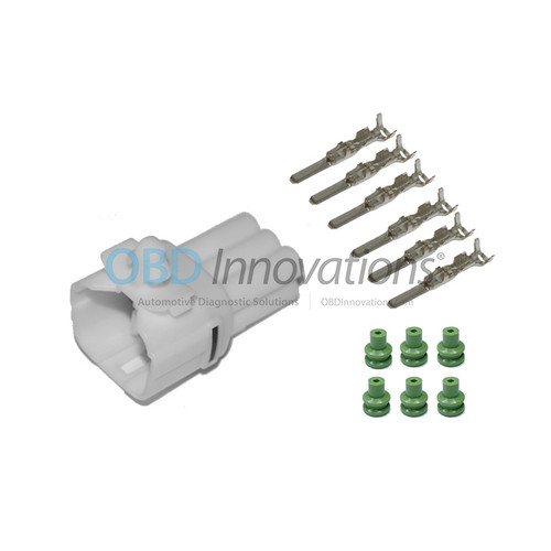 6 Way Sumitomo MT Sealed Male Connector   Kit   White   6187-6561