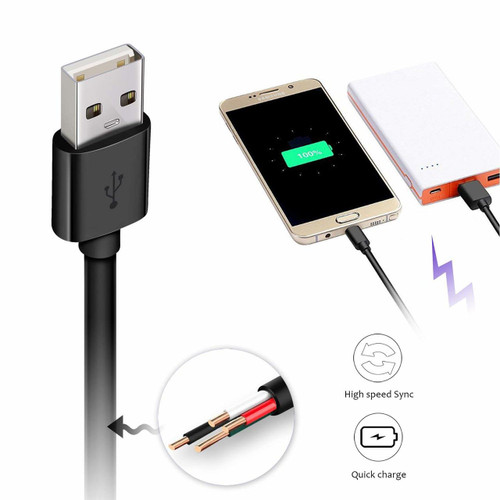 Quick Charge Micro USB Cable 2.4A 3FT