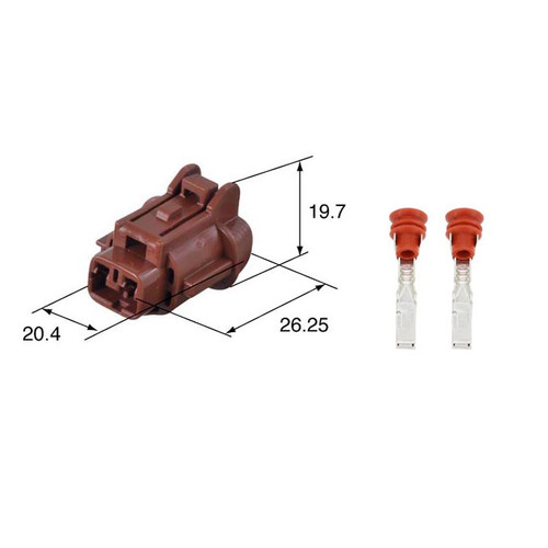 Sumitomo RS Series 090 2.3mm 2 Way Female Connector Kit 6185-0866 [Brown]
