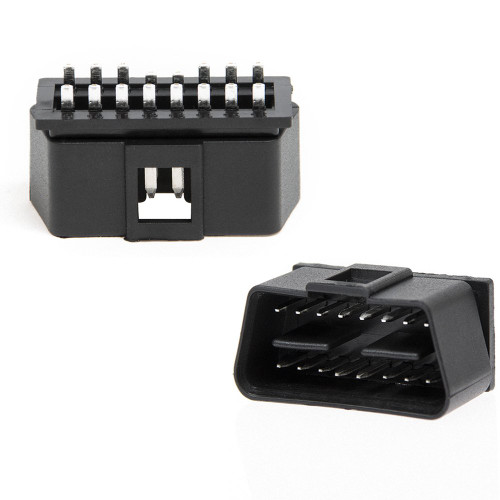 16 Pin OBD2 J1962M Male Connector [Solder Tabs]