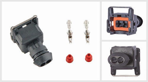 2 Pin Headlight Fog Turn Signal Connector Kit for Fiat Iveco MB Renault Volvo DAF BMW VW