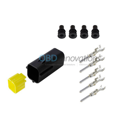 4 Way TE Econoseal J Male Connector | Kit | 174259-2