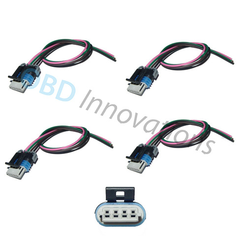 4X Ignition Coil Pack 4 Way Connector Harness Pigtail for GM LS2 LS3 LS7 Coils PT1627