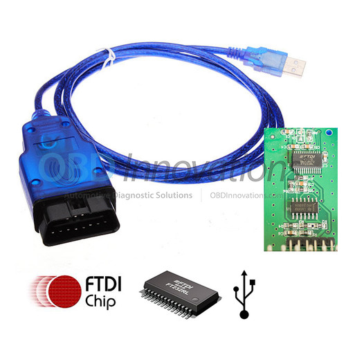 KKL OBD2 USB Interface Cable with FTDI FT232RL Chip