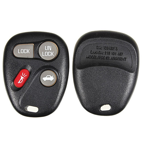 4 Button Remote Key Fob Case Shell for 01-11 GM Models