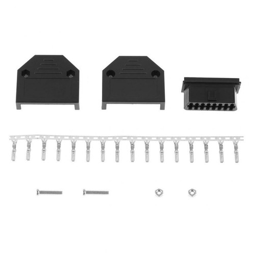 16 Pin J1962 OBD2 Female Connector Kit with Terminals 18-16 AWG